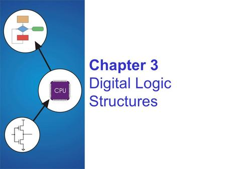 Chapter 3 Digital Logic Structures. 3-2 Transistor: Building Block of Computers Microprocessors contain millions of transistors Intel Pentium 4 (2000):