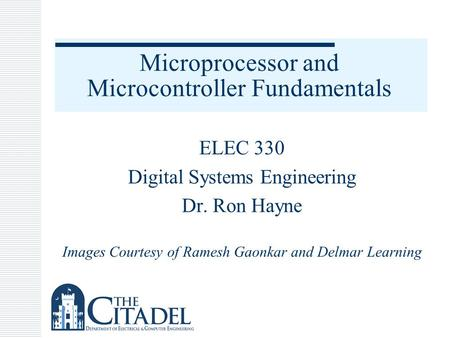 Microprocessor and Microcontroller Fundamentals