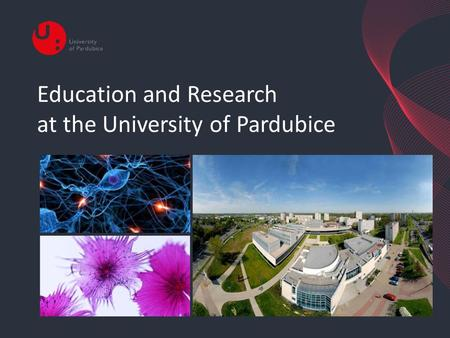 Education and Research at the University of Pardubice.