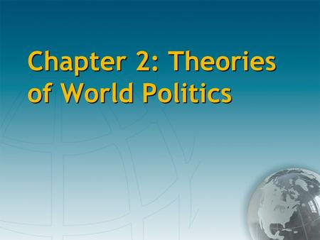explain what the authors mean by idealism and realism in international politics What is political idealism a: is often presented in contrast to political realism realism and political idealism idealism in international relations.
