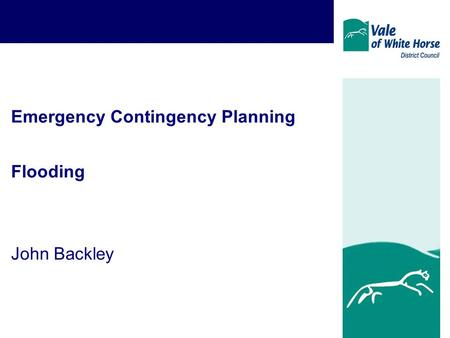 Emergency Contingency Planning Flooding John Backley.