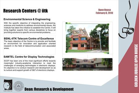 Research iitk With the specific objective of integrating the engineering, sciences and medicine to address environmental issues, the Institute.