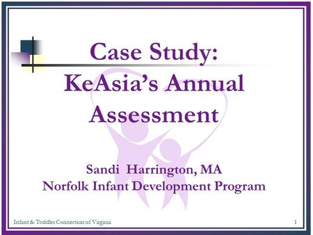 Infant & Toddler Connection of Virginia 1 Case Study: KeAsia's Annual Assessment Sandi Harrington, MA Norfolk Infant Development Program.