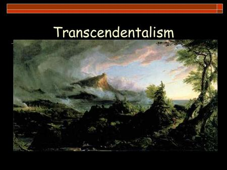 Transcendentalism. Anticipation Guide For each statement, indicate whether you agree or disagree and explain your reasons. 1. Spirituality is more important.