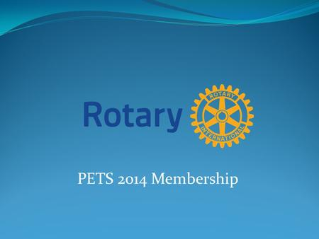 PETS 2014 Membership. WHY IS THERE CONCERN?