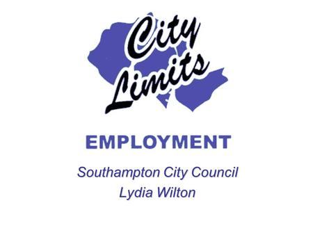 Southampton City Council Lydia Wilton. business plan project summary publicity added value EU regulation target groups auditevaluationdelivery current.