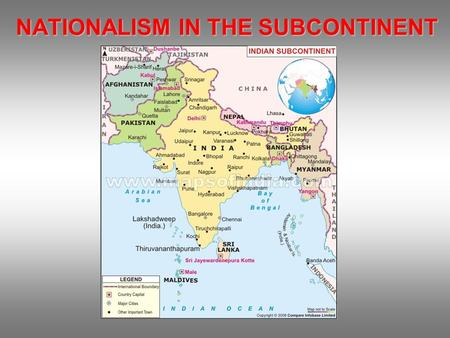 NATIONALISM IN THE SUBCONTINENT