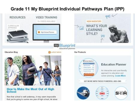 Grade 11 My Blueprint Individual Pathways Plan (IPP)
