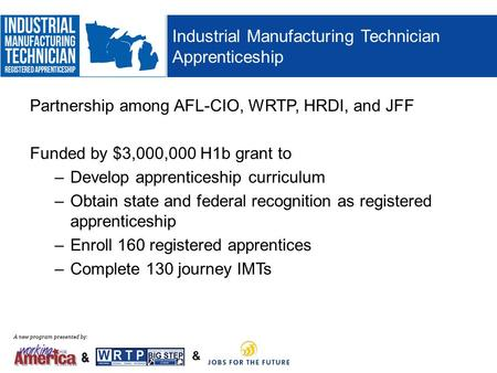 Industrial Manufacturing Technician Apprenticeship