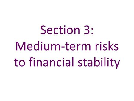 Section 3: Medium-term risks to financial stability.