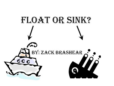 Float or Sink? By: Zack Brashear. Problem What kind of wood can you depend on to float on water with the most weight added onto it?