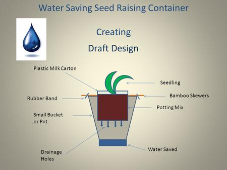 Water Saving Seed Raising Container Creating Bamboo Skewers Water Saved Plastic Milk Carton Small Bucket or Pot Drainage Holes Potting Mix Seedling Rubber.