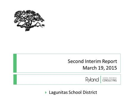 Second Interim Report March 19, 2015