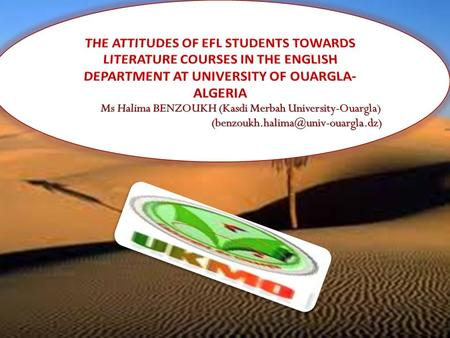 INTRODUCTION According to many scholars, teaching literature in EFL classes is required. They see that literature ought to be taught because literary.