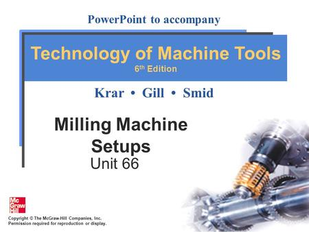 Milling Machine Setups