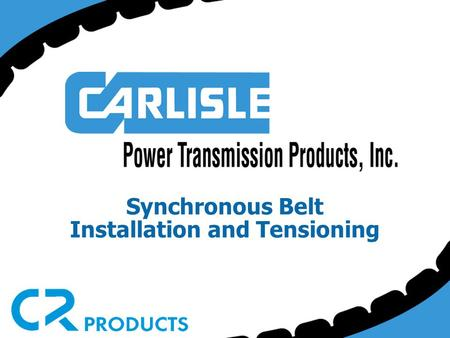 Synchronous Belt Installation and Tensioning. Synchronous belt drives provide many maintenance advantages that help in your daily struggle to reduce equipment.