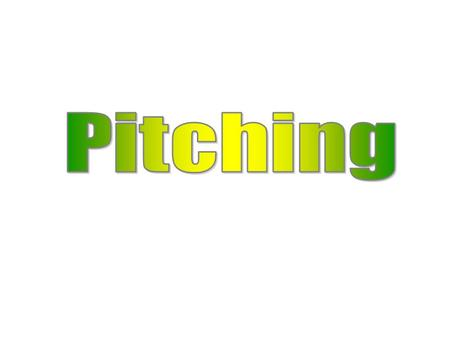 Pitching is the most strenuous of motions in sports. Pitchers must be properly warmed up before taking the mound in practice or in games. Location, Location,