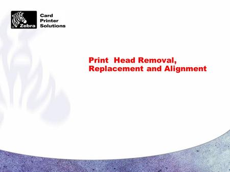 Print Head Removal, Replacement and Alignment. Page 2 CONFIDENTIAL Print Head Assembly Removal  Turn off printer A.C. power  Unplug the printer from.