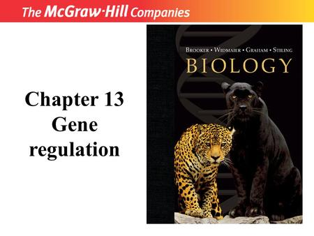 Title Chapter 13 Gene regulation. CO 13 Fig. 13.1.