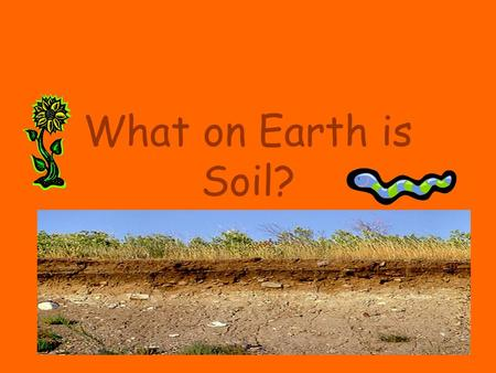 What on Earth is Soil?.