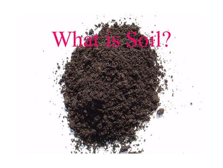 What is Soil?.