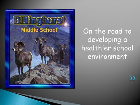 On the road to developing a healthier school environment.