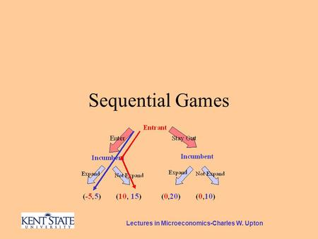 Lectures in Microeconomics-Charles W. Upton Sequential Games.