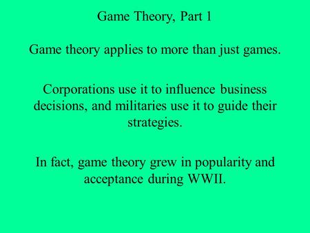 math essay by chris ferguson about game theory and poker