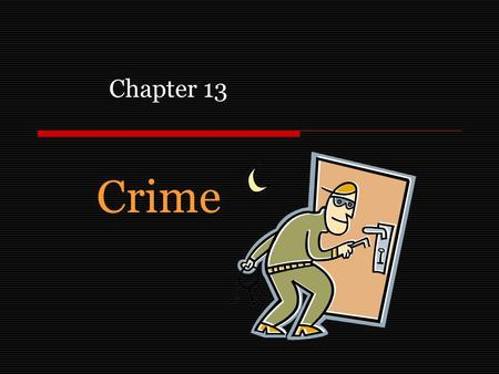 Crime Chapter 13. Purpose In this chapter we explore one of the problems associated with urban areas, crime. We introduce three tools that allow us to.