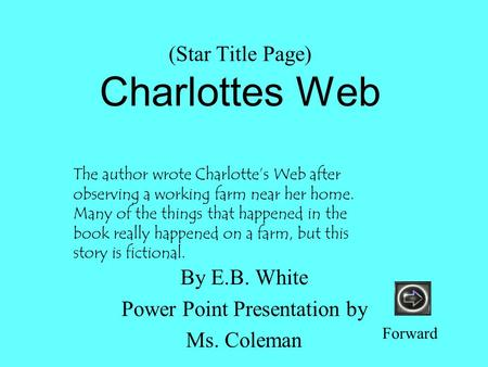 (Star Title Page) Charlottes Web