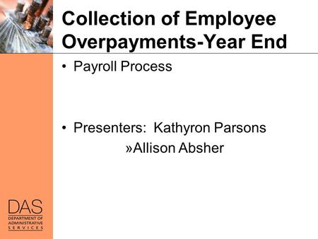 Collection of Employee Overpayments-Year End