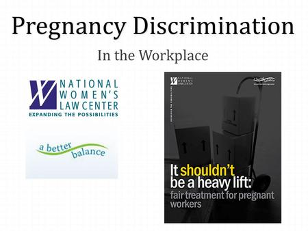 Pregnancy Discrimination In the Workplace. Webinar Technology 0 If you can't hear us – 0 Go to the webinar control panel on the right side of your screen.