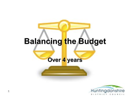 1 Balancing the Budget Over 4 years. 2 Spending must fall True Grant falls by 27% (£3.3m) next year Council tax frozen for 2011 Council reserves to fall.