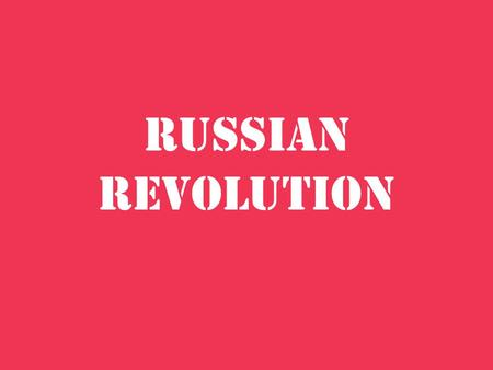 Russian Revolution. Revolution of 1905 The Great Dress Rehearsal Vladmir Lenin made reference to this revolution as such. It produced the workers council.