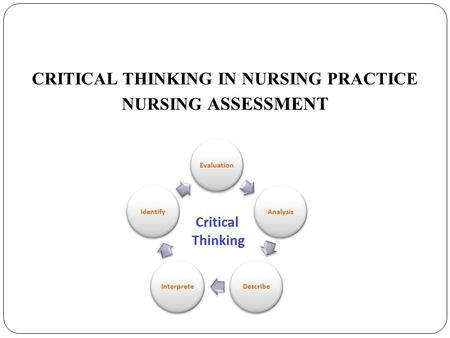 using critical thinking in nursing Are we using the best instructional strategies to promote critical-thinking skills in our graduates an evaluation of the critical-thinking skills components in a 2.