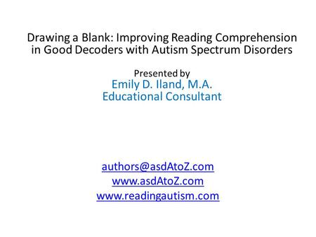 how to teach reading comprehension to students with autism