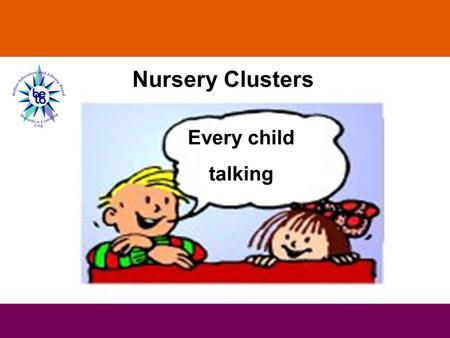 Every child talking Nursery Clusters. Supporting speech, language and communication skills Nursery Clusters Cluster 2 Understanding Spoken Language.
