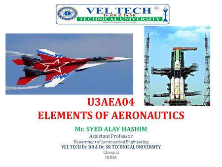 U3AEA04 ELEMENTS OF AERONAUTICS