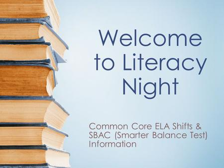 Welcome to Literacy Night
