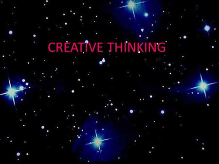 "CREATIVE THINKING. ""The principal goal of education is to create men who are capable of doing new things. The second goal of education is to form minds."