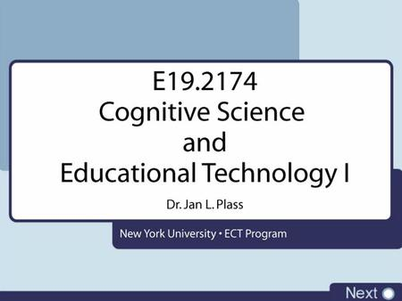Cognitive Science Overview Individual Differences Design of Adaptive Learning Environments Research on Individual Differences.