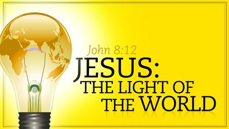 In The Beginning: Let There Be Light And so the gospel message begins… at the beginning. Gen. 1:1-5 Divine words (Logos) express life into a dark world.
