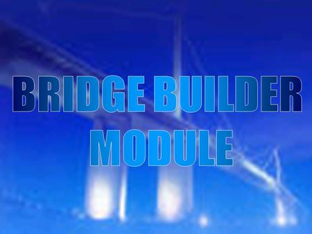 Introduction to the basic concepts employed by the structural engineer when designing and building bridges including load, dimensions, and materials.