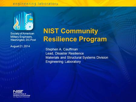NIST Community Resilience Program