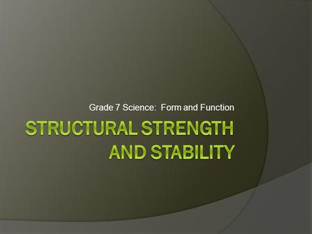 Structural Strength and Stability