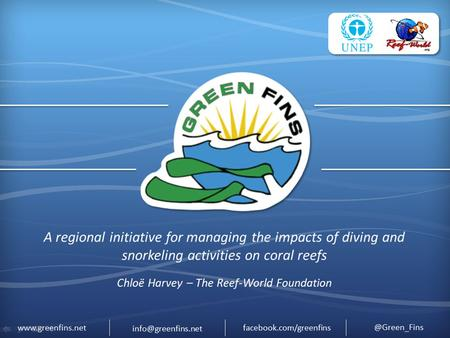 A regional initiative for managing the impacts of diving and snorkeling activities on coral reefs.