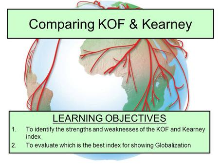 Comparing KOF & Kearney