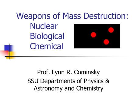 an introduction to the chemistry of nuclear weapons Nuclear power plants and earthquakes: fukushima essays - nuclear chemistry project chemical, biological and nuclear weapons are capable of mass destruction aimed at killing masses of people using cbw agents comes with many ethical dilemmas and consequential side-effects.