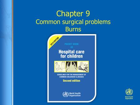 Chapter 9 Common surgical problems Burns. Case study: Alisher Alisher, a 10 months old girl was brought to the district hospital by her mother. At presentation.