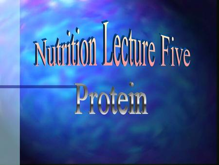 Why does the body need protein? n Dietary protein provides needed amino acids n Used to make new protein in the body n Protein is made in the body for: